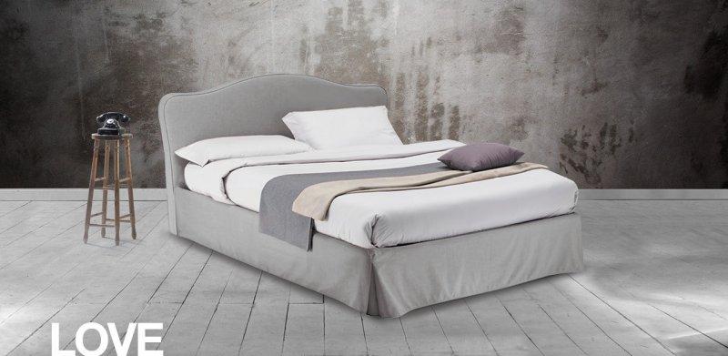 Κρεβάτι Ντυμένο Love